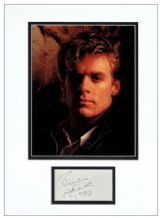Bryan Adams Autograph Signed Display